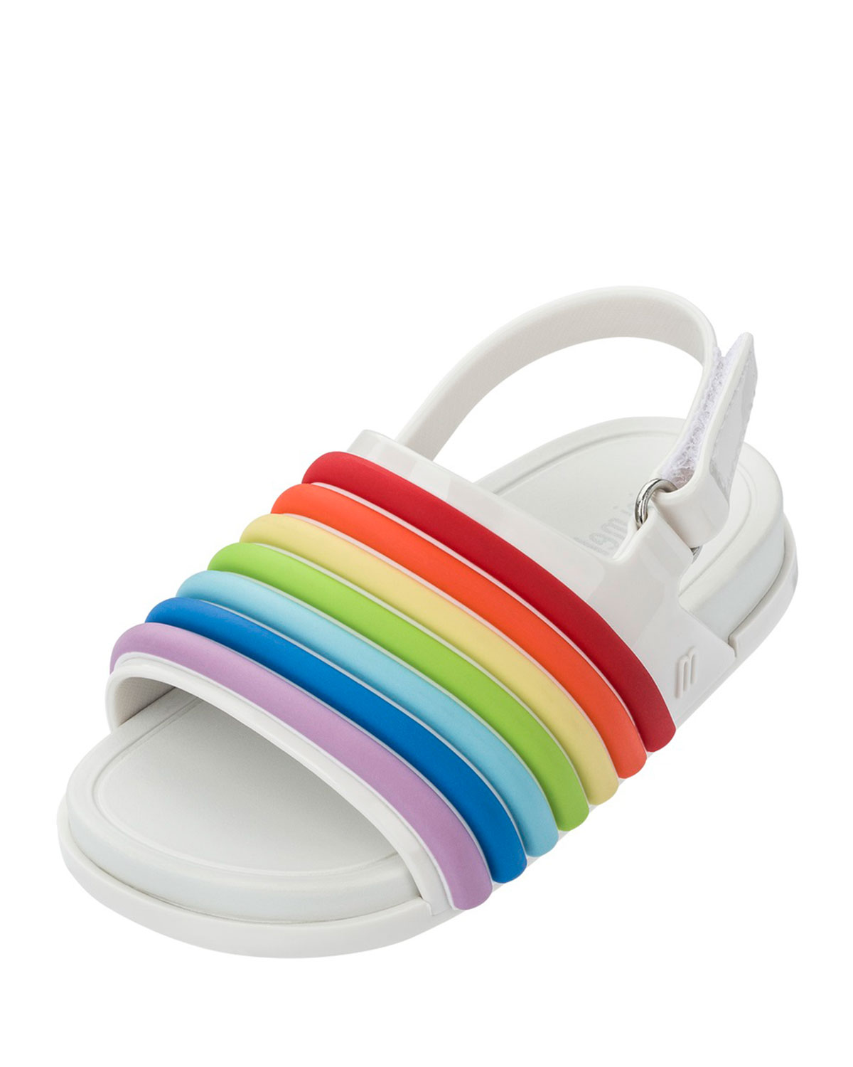 49f994adba66 Mini Melissa Mini Rainbow Beach Slide
