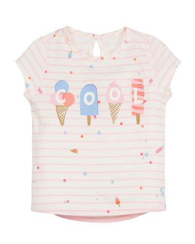Popsicle Stripe Short-Sleeve Tee, Size 3-6