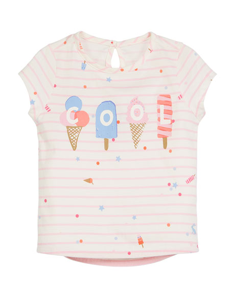Joules Popsicle Stripe Short-Sleeve Tee, Size 3-6