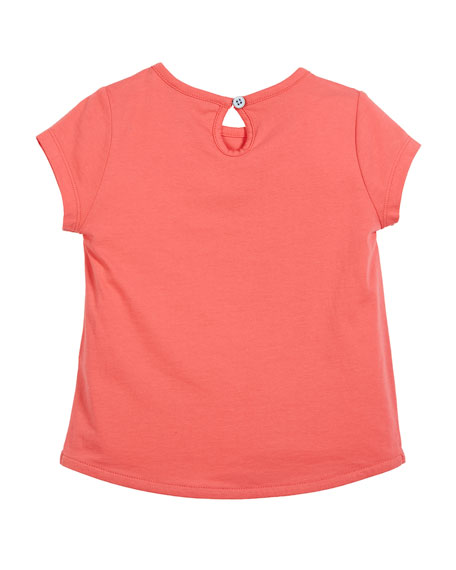 Whale Party Short-Sleeve Tee, Size 3-6