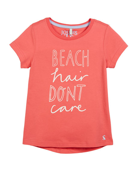 Joules Beach Hair Don't Care Short-Sleeve Tee, Size