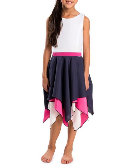 Piper Handkerchief-Hem Swing Dress, Size 7-16
