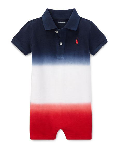 Ralph Lauren Childrenswear Americana Gradient Collared Shortall,