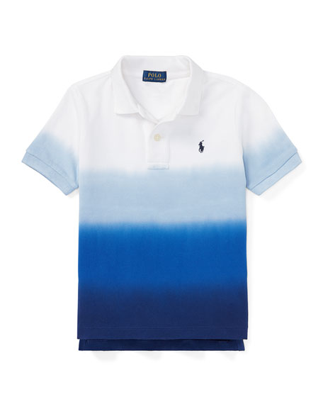 Dip Dye Short-Sleeve Knit Polo, Size 2-4