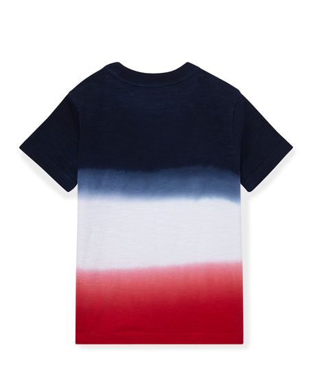 Ombre Short-Sleeve Logo T-Shirt, Size 2-4