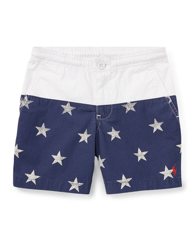 Prepster Colorblock Star Shorts, Size 2-4