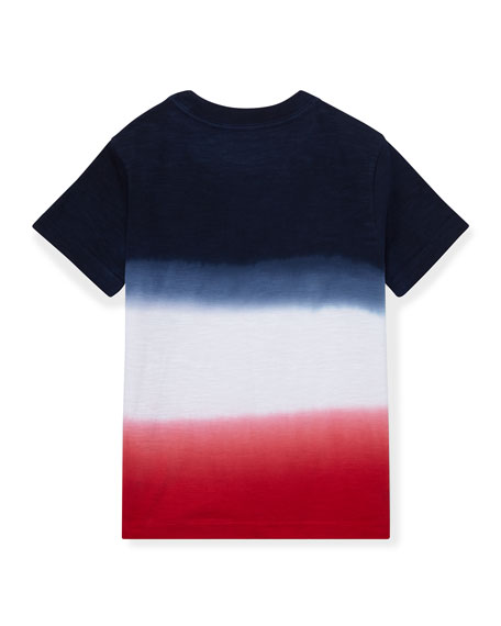Ombre Short-Sleeve Logo T-Shirt, Size 5-7