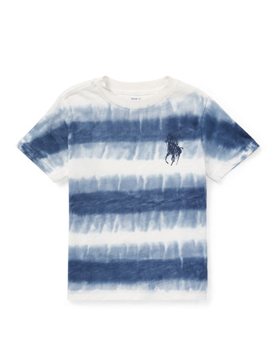 Tie-Dye Short-Sleeve Knit Top, Size 5-7