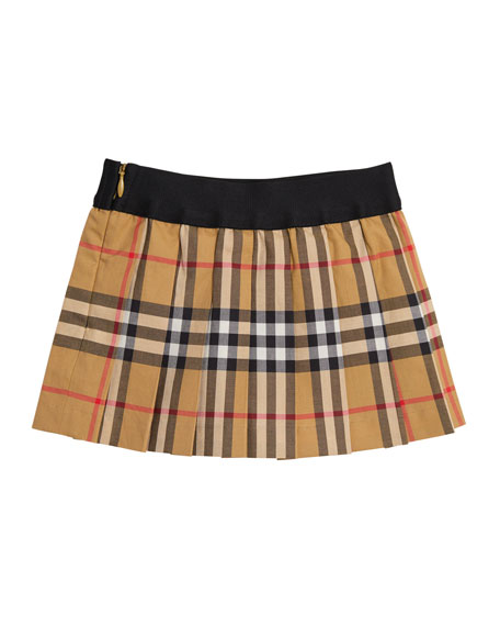 Pansie Pleated Check Skirt, Size 12M-3