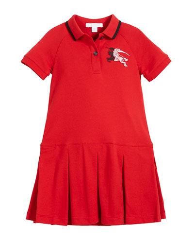 Molly Anna Logo Polo Dress, Size 4-14