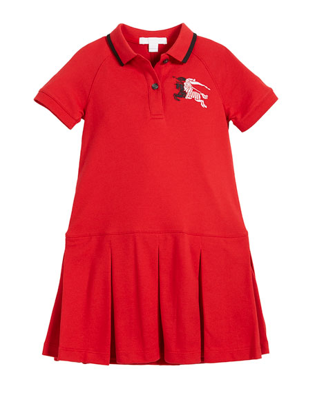 Molly Anna Logo Polo Dress, Size 4-14