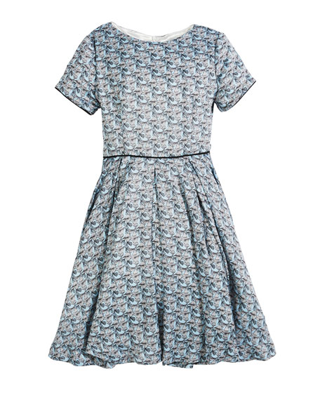 Short-Sleeve Printed Dress, Size 2-6