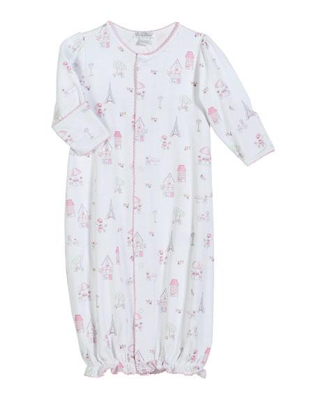 Parisian Stroll Printed Pima Convertible Gown, Size Newborn-S