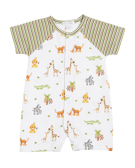 Kissy Kissy Jolly Jungle Print Shortall, Size 3-24