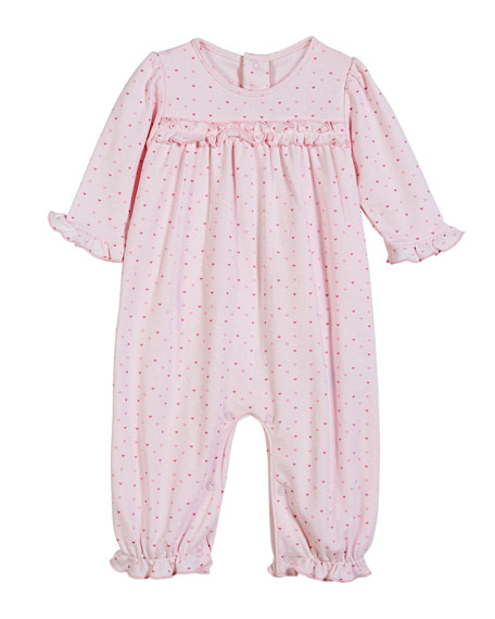 Parisian Stroll Printed Heart Coverall, Size 3-24 Months
