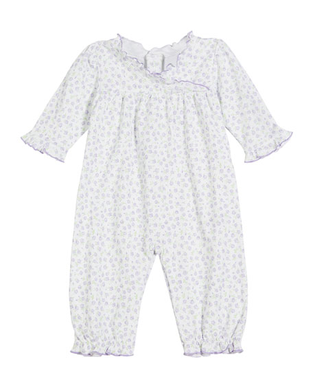 Rambling Roses Printed Pima Coverall, Size 3-24 Months