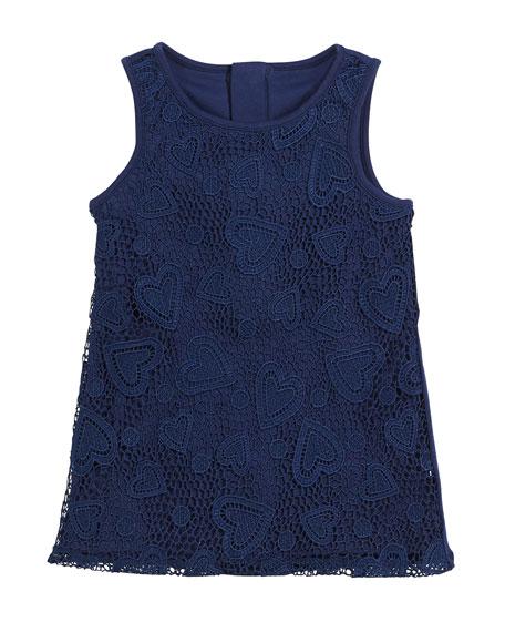 kate spade new york sleeveless heart lace dress,