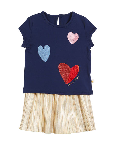 kate spade new york tossed hearts t-shirt w/