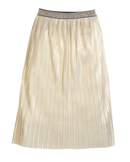 printed foil metallic skirt, size 7-14