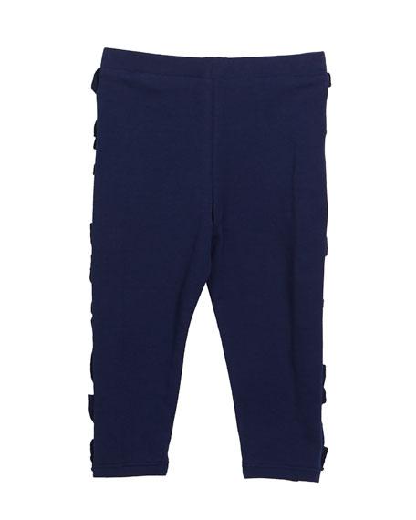 doodle-print short-sleeve top w/ ruffle leggings, size 12-24 months