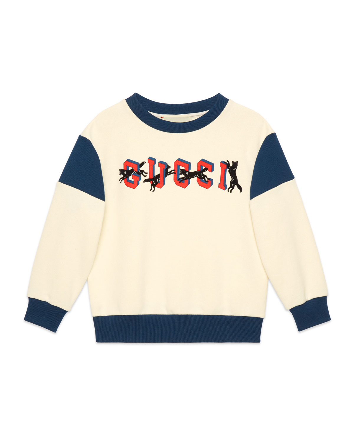 ee057c2f539 Gucci Two-Tone Gucci Wolves Pullover Sweatshirt