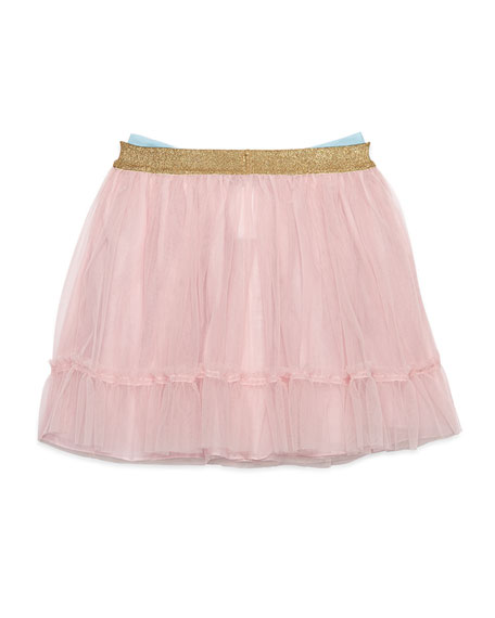 Dandy Tulle Skirt w/ Oversized Bow, Size 4-12