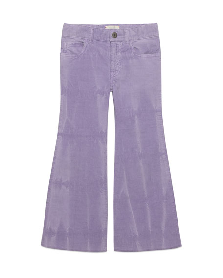 Dyed Velvet Corduroy Bell Bottom Pants, Size 4-12
