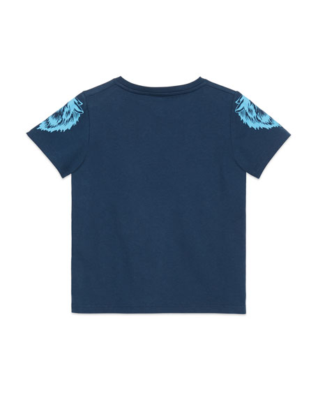 Guccy Monster & Kingsnake T-Shirt, Size 4-12