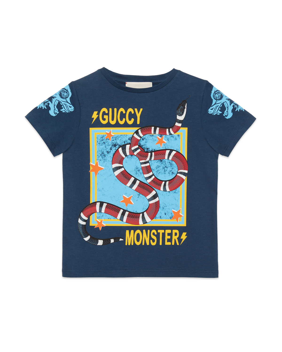 821e4b133d80 Gucci Guccy Monster   Kingsnake T-Shirt