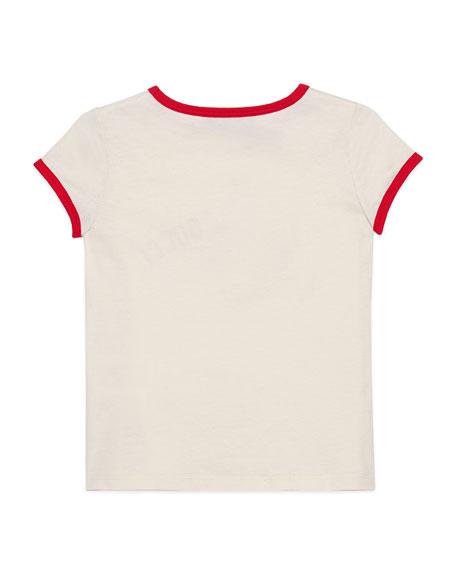 Glitter Strawberry Rainbow T-Shirt, Size 4-12