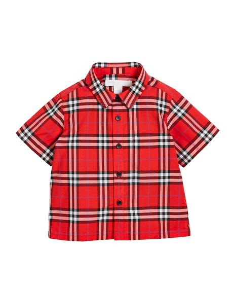 Steven Check Button-Down Shirt, Size 6M-3