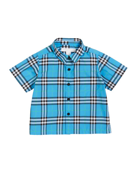 Steven Check Button-Down Shirt, Size 6M-3