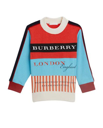 Marc Colorblock Logo Sweater, Size 4-14
