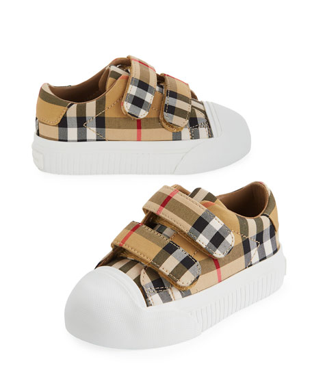 Belside Vintage Check Canvas Sneakers, Toddler