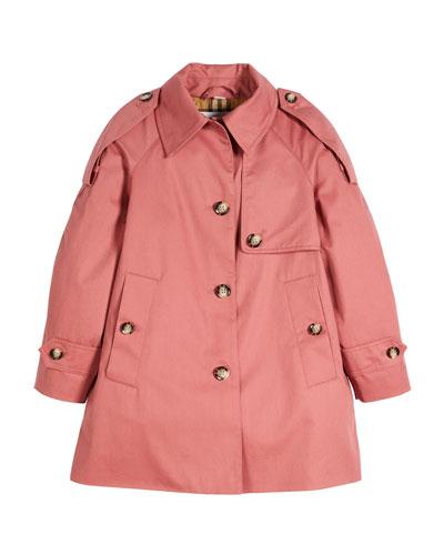 Danica Trench Top Coat, Size 4-14
