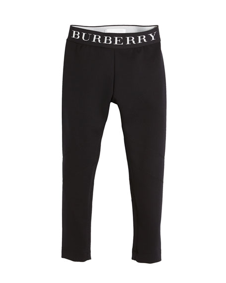 Burberry Charlene Logo-Waistband Leggings, Size 4-14