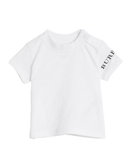 Burberry Leslie Logo-Sleeve Tee, Size 6M-3