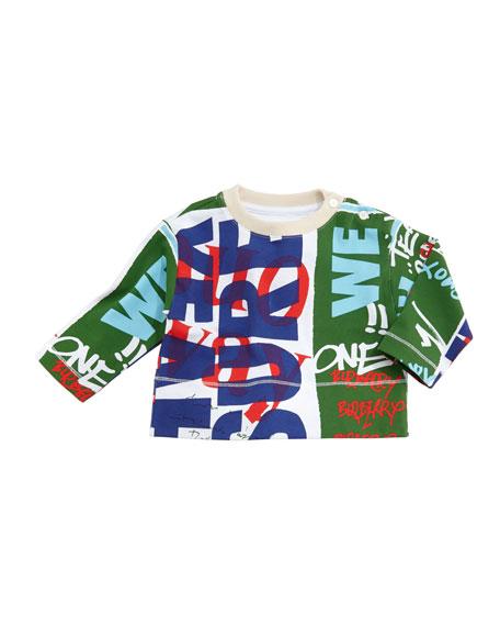 Burberry Godfrey Graffiti-Print Sweatshirt, Size 6M-3