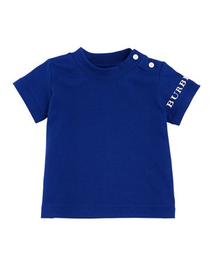 Burberry Leslie Logo Sleeve Tee Size 6M 3