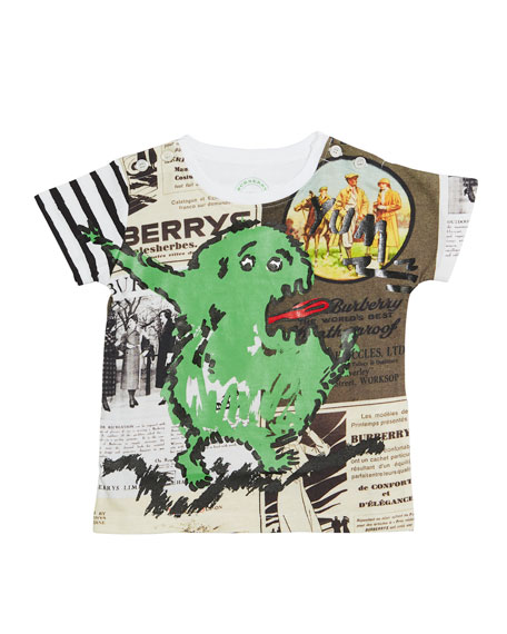 Burberry Green Monster Cotton Tee, Size 12 Months-3