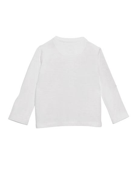 Sweet Wrap Logo Graphic Long-Sleeve Shirt, Size 12M-3