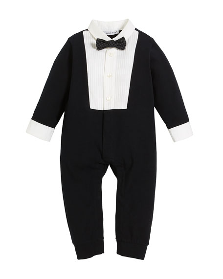 Long-Sleeve Tuxedo Coverall, Size 3-12 Months