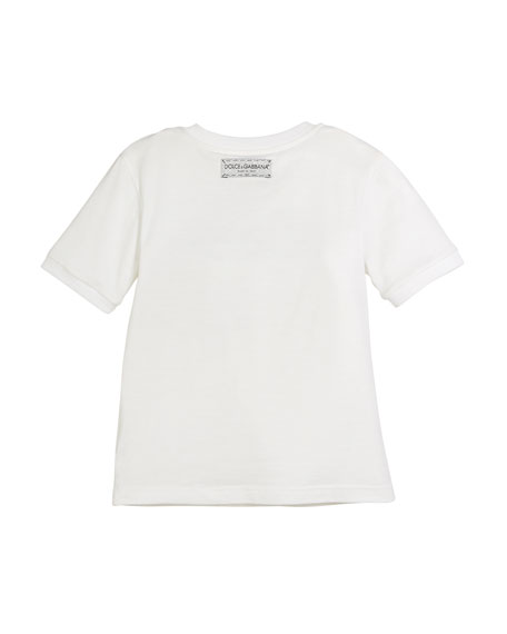 Love D&G Model Logo Tee, Size 4-6