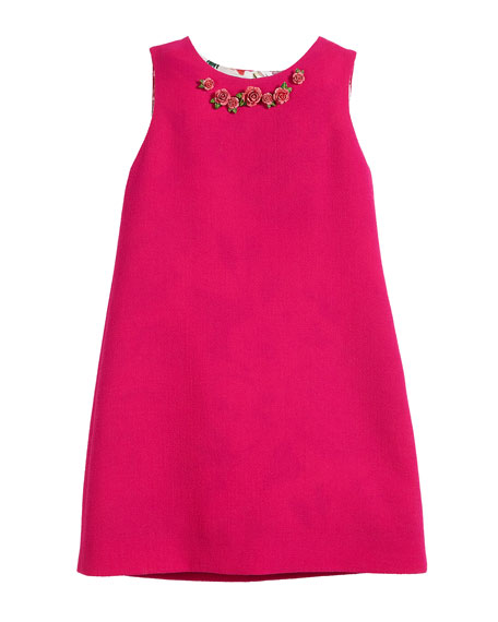 Dolce & Gabbana Sleeveless Crepe Dress w/ 3D