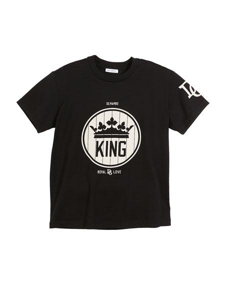 Dolce & Gabbana King Logo Short-Sleeve T-Shirt, Size