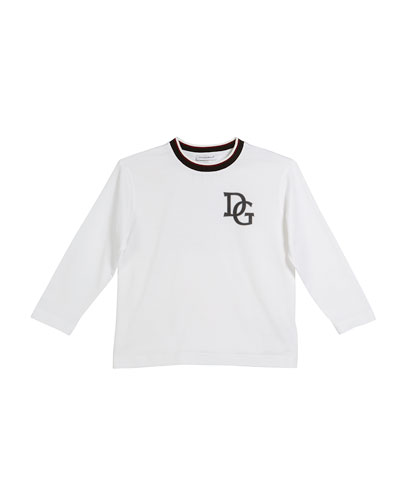 Long-Sleeve Striped-Collar King T-Shirt, Size 2-6