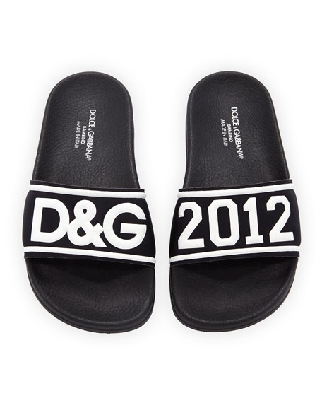 Chiabatta D&G 2012 Pool Slide Sandals, Toddler/Kids