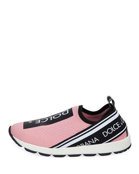 Maglina Slip-On Knit Logo Sneakers, Kids