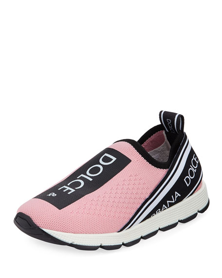 Dolce & Gabbana Maglina Slip-On Knit Logo Sneakers,