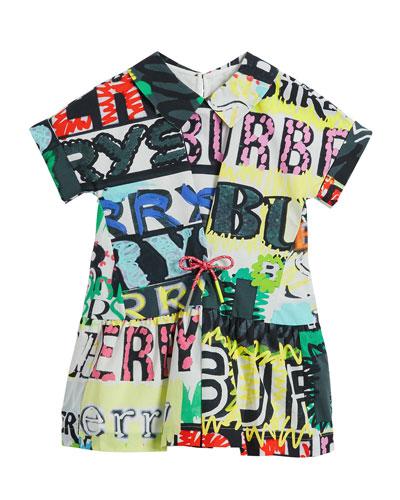 Forever Logo-Print Short-Sleeve Dress, Size 4-14
